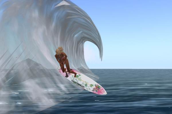 Surfing Second Life